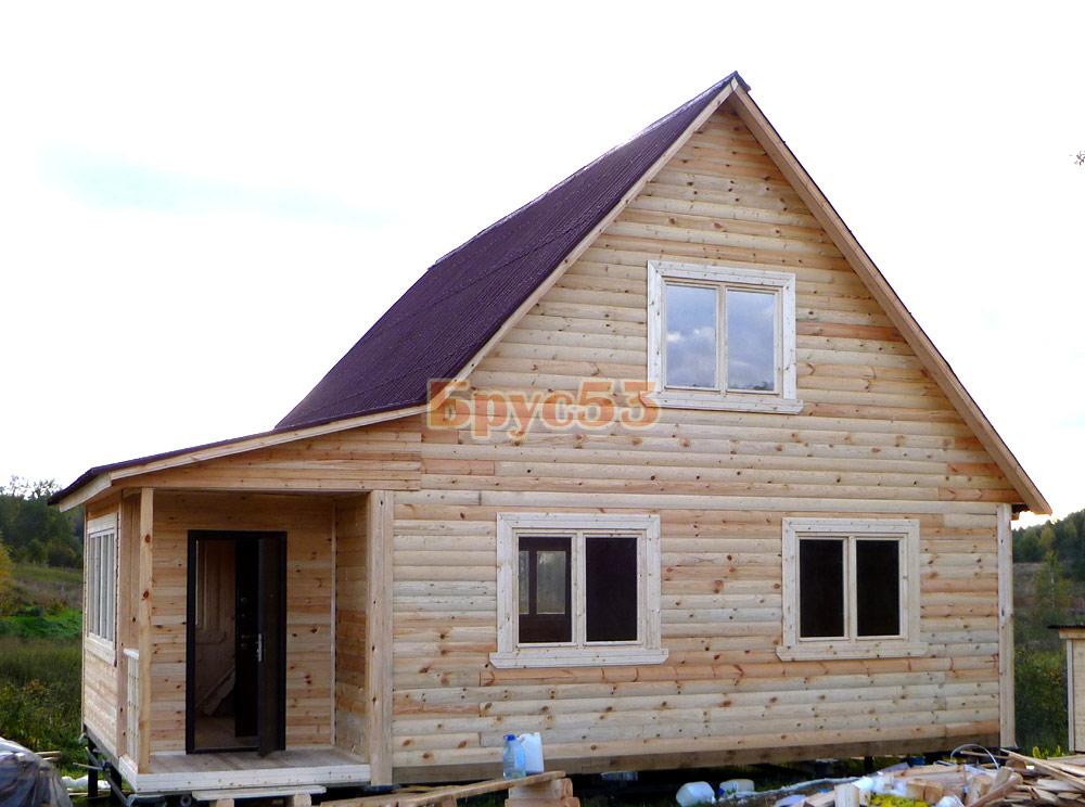 Строительство дома своими руками под ключ из бруса 37